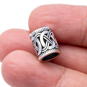 Sterling Silver Viking Beard Hair Mammen Braid Bead