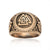 Viking Triple Valknut Ring Handcrafted from Bronze