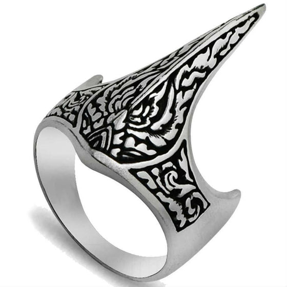 925 Sterling Silver Handmade Crown Archer Zighir Turkish Jewelry Mens Ring