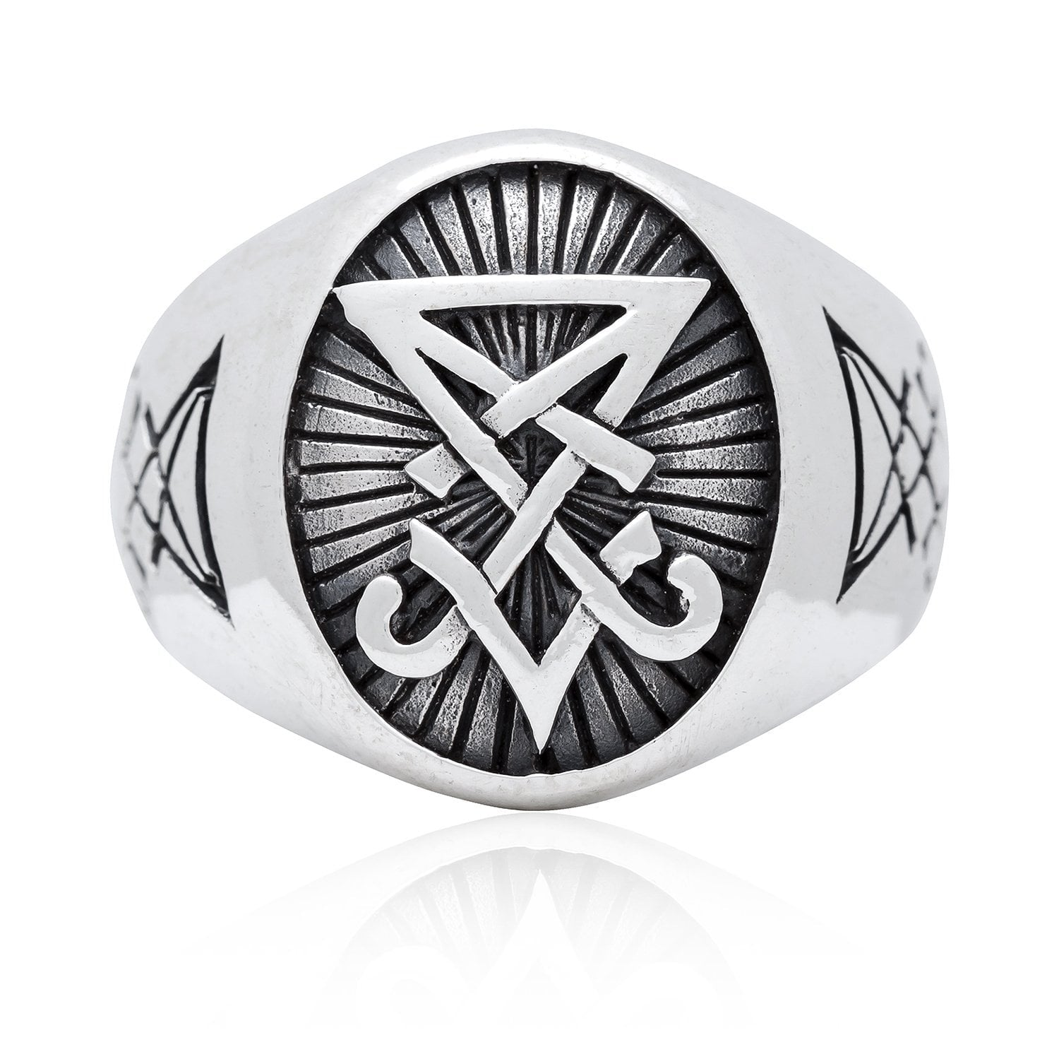 925 Sterling Silver Sigil Of Lucifer Satanic Seal Of Satan Ring