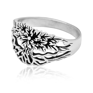 925 Sterling Silver Viking Yggdrasil Unisex Ring