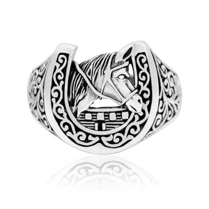 925 Sterling Silver Lucky Horseshoe Ring