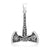 925 Sterling Silver Viking Axe with Valknut and Helm of Awe Pendant