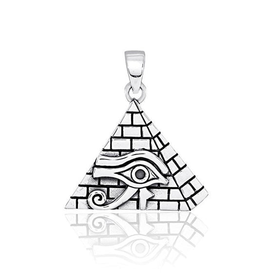 925 Sterling Silver All-Seeing Eye of Providence Horus Illuminati Charm Pendant