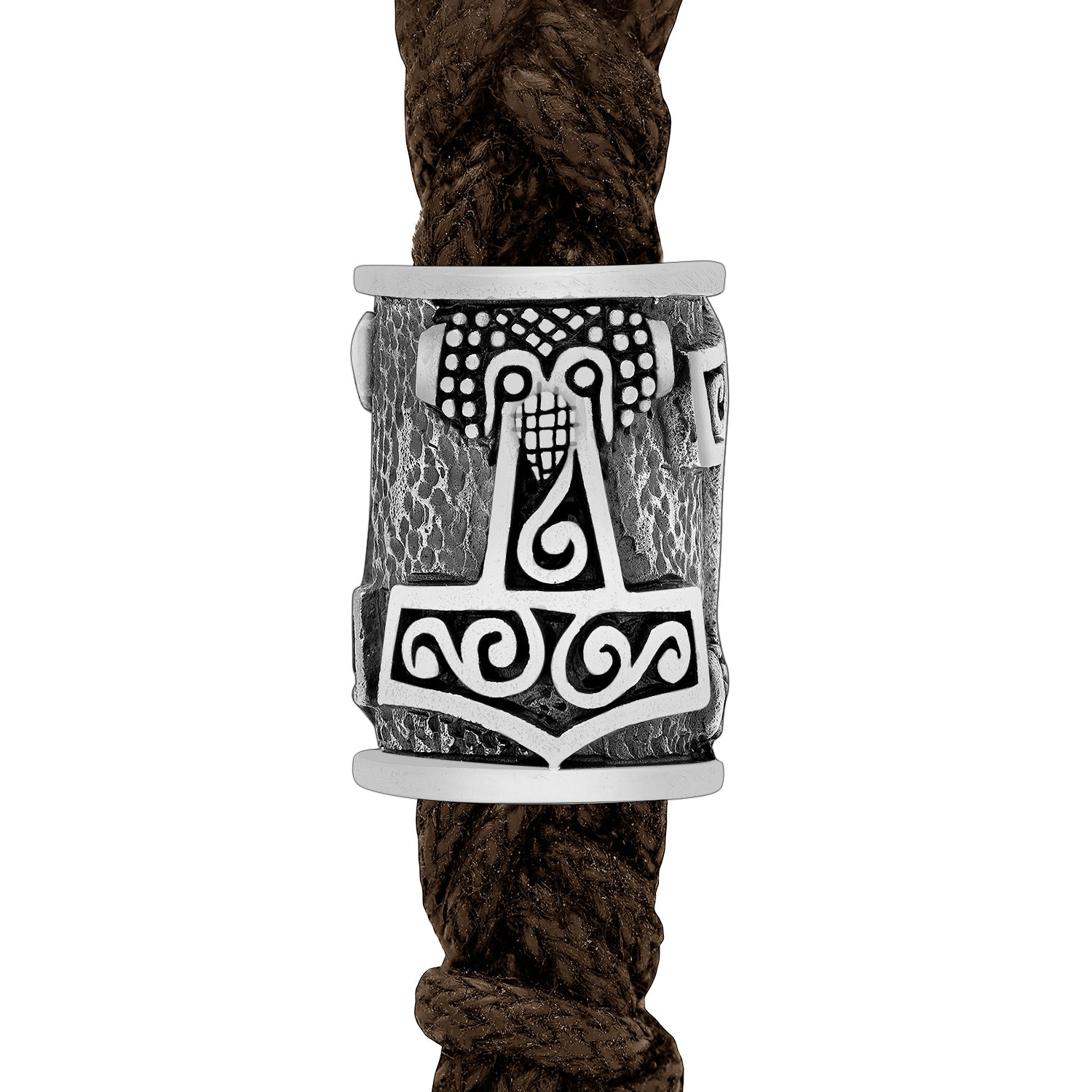 Sterling Silver Viking Beard Bead with Mjolnir