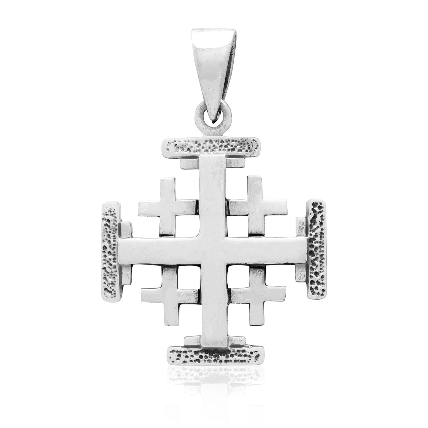925 Sterling Silver Handcrafted Jerusalem Crusaders Cross Pendant