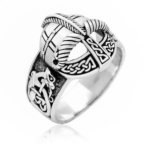 925 Sterling Silver Viking Gjermundbu Helmet Ring