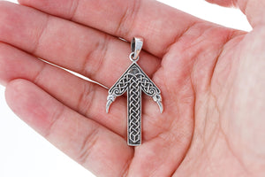 925 Sterling Silver Viking Tiwaz God Tyr Pendant