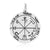 Sterling Silver Sixth Pentacle of Saturn Solomon Seal Pendant