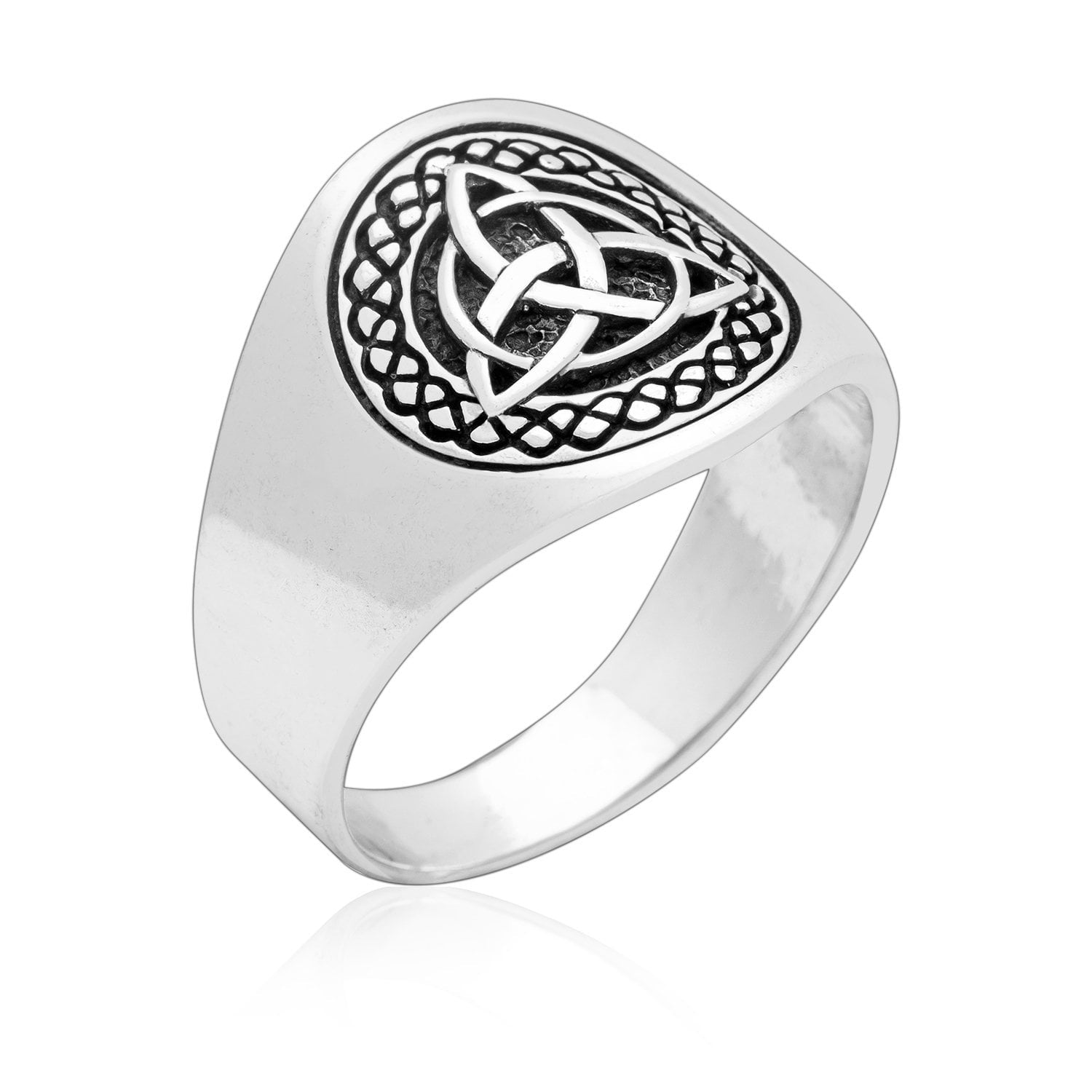 925 Sterling Silver Celtic Triquetra Band Ring