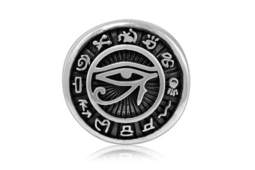 925 Sterling Silver Egyptian Eye of Horus Signet Ring