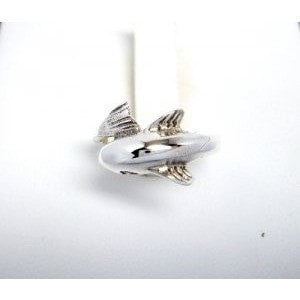 925 Sterling Silver Cute Dolphin Adjustable Toe Pinky Ring - SilverMania925