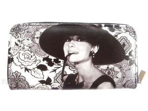 Audrey Hepburn Retro Classic Credit Card Money ID Holder Wallet Purse Bag - SilverMania925