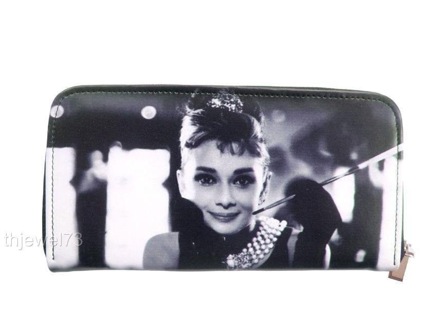 Audrey Hepburn Classic Retro Credit Card Money Case ID Holder Wallet Purse - SilverMania925