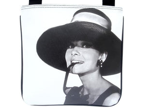 Audrey Hepburn Retro Hollywood Rare Messenger Cross Body Sling Bag Purse - SilverMania925