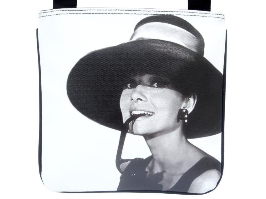 Audrey Hepburn Retro Hollywood Rare Messenger Cross Body Sling Bag Purse