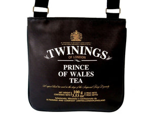 Twinings London Prince Of Wales Tea Messenger Sling Bag Purse - SilverMania925