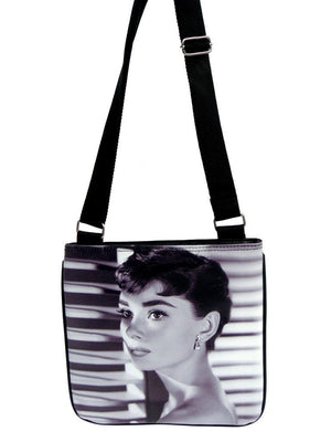 Audrey Hepburn Classic Fashion Messenger Bag Purse - SilverMania925