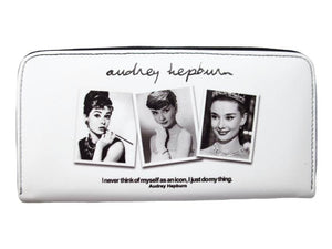 Audrey Hepburn Rare Photo Collage Credit Card Money Case Wallet Purse - SilverMania925