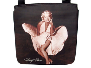 Marilyn Monroe Signature Ballerina Black Messenger Sling Bag Purse