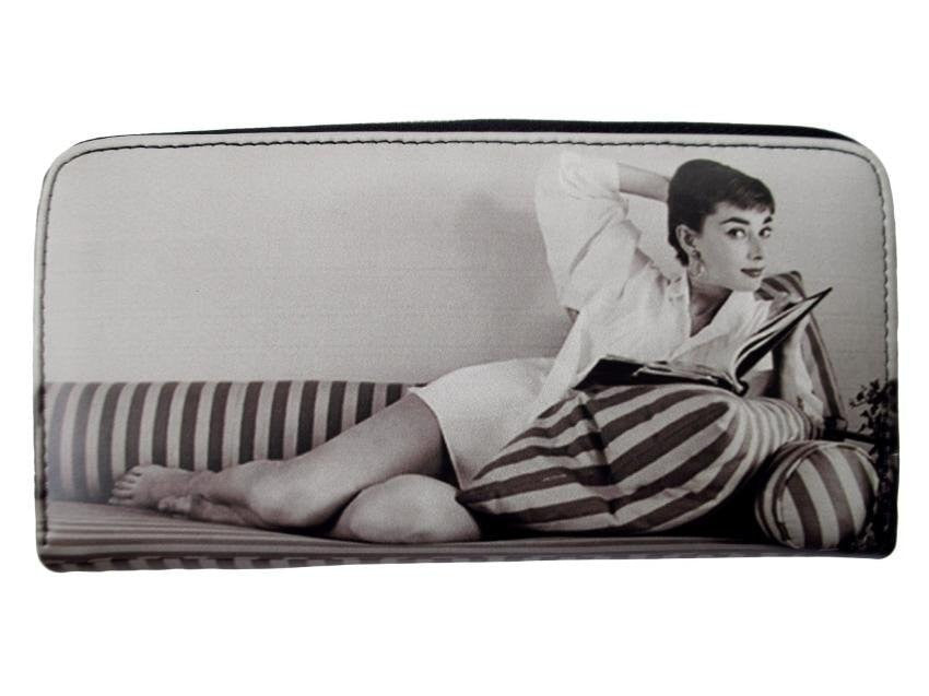 Audrey Hepburn Rare Retro Classic Travel Wallet Money ID Holder Purse