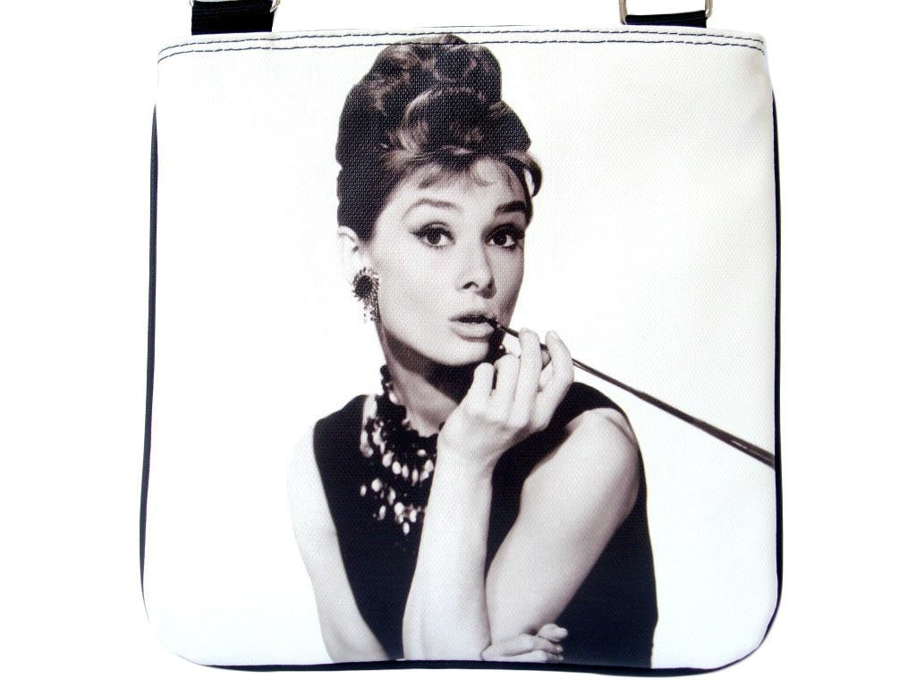 Audrey Hepburn Breakfast At Tiffanys Cinema Messenger Bag Purse