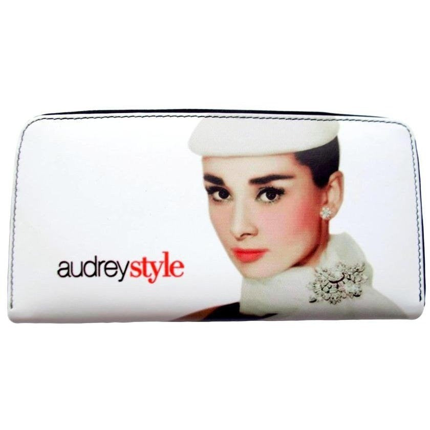 Audrey Hepburn Breakfast at Tiffanys Classic Travel Wallet Purse - SilverMania925