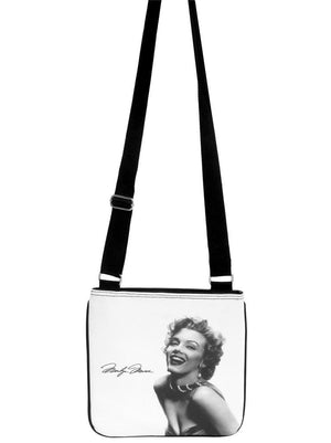 Marilyn Monroe Signature Classic Messenger Cross Body Sling White Bag Purse