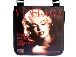 Marilyn Monroe Blonde Vintage Glamour Messenger Sling Bag Purse