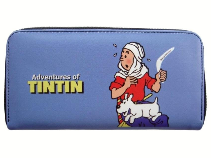 TINTIN Snowy Cartoon Credit Card Money ID Holder Blue Wallet Purse Bag
