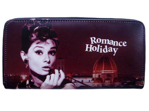 Audrey Hepburn Roman Holiday Retro Movie Travel Wallet Bag Purse