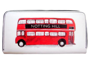 London Transport Routemaster Icon Double Decker Retro Bus Card ID Holder Wallet Puse - SilverMania925