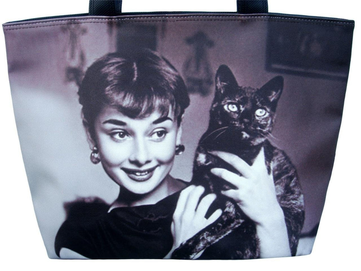 Audrey Hepburn Holding Cat Rare Classic Bag Purse Handbag - SilverMania925