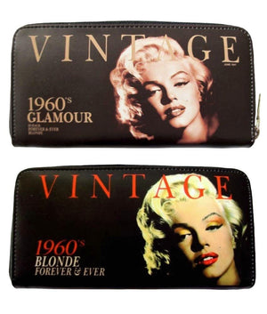 Marilyn Monroe Blonde 1960s Card Money ID Holder Wallet Purse Bag - SilverMania925