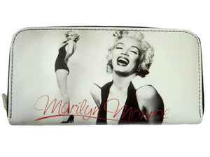 Marilyn Monroe Signature Retro ID Holder White Wallet Purse Bag - SilverMania925