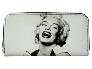 Marilyn Monroe Retro Classic ID Coin Bill Holder White Wallet Purse Bag - SilverMania925