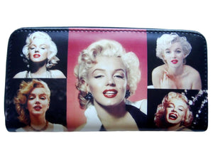 Marilyn Monroe Retro Picture Collage ID Coin Bill Holder Wallet Purse Bag - SilverMania925