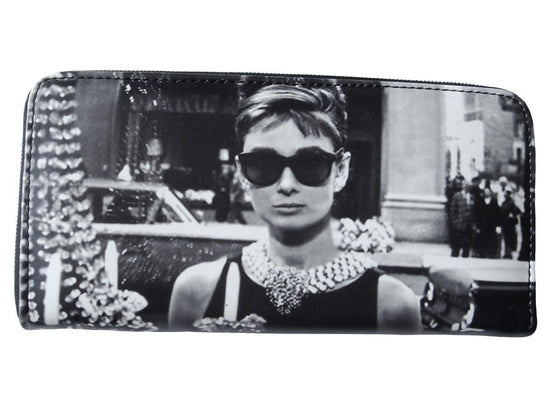 Audrey Hepburn Classic Credit Card Money Case ID Holder Wallet Purse Bag - SilverMania925