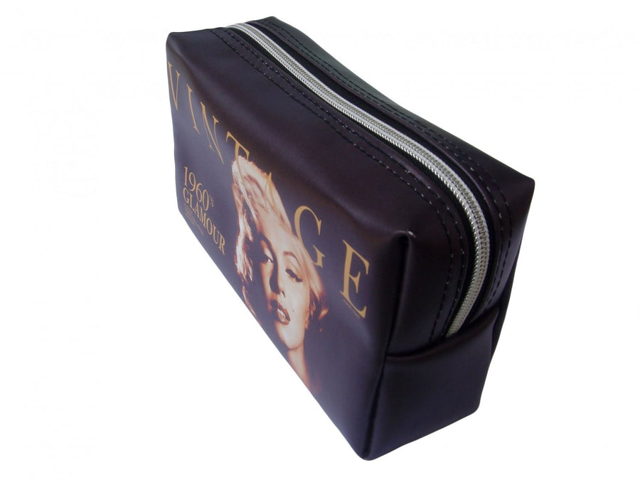 Marilyn Monroe Vintage Glamour Make Up Lipstick Purse Cosmetic Zip Around Bag