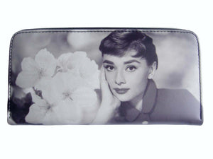 Audrey Hepburn Rare Breakfast at Tiffanys Card Holder White Wallet Purse - SilverMania925