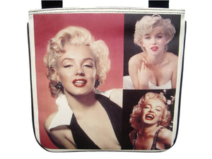 Marilyn Monroe Photo Collage Retro Messenger Sling Bag Purse - SilverMania925