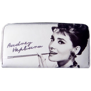 Audrey Hepburn Breakfast at Tiffanys Signature White Wallet Bag