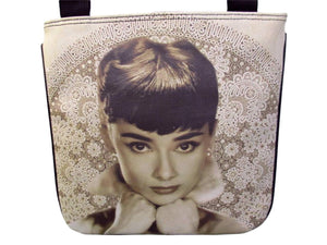 Audrey Hepburn Filigree Style Messenger Cross Body Bag Purse