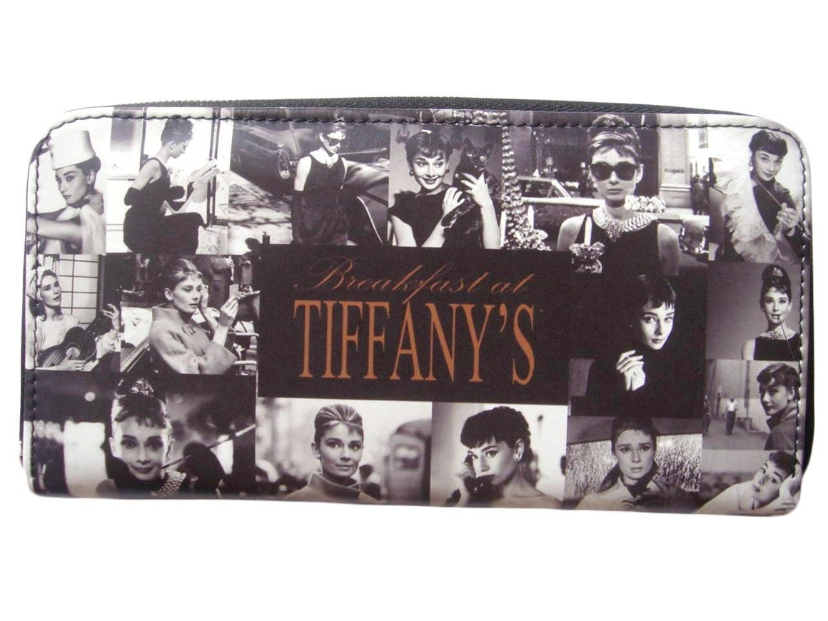 Audrey Hepburn Rare Photo Collage Breakfast at Tiffany's Wallet Purse - SilverMania925