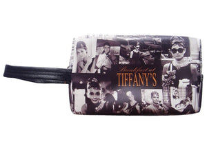 Audrey Hepburn Retro Picture Collage Make Up Lipstick Purse Cosmetic Zip Around Bag - SilverMania925