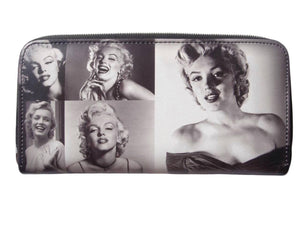Marilyn Monroe Retro Rare Picture Collage ID Coin Bill Holder Wallet - SilverMania925