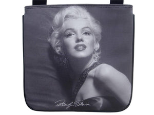 Marilyn Monroe Signature Classic Black Messenger Sling Bag Purse