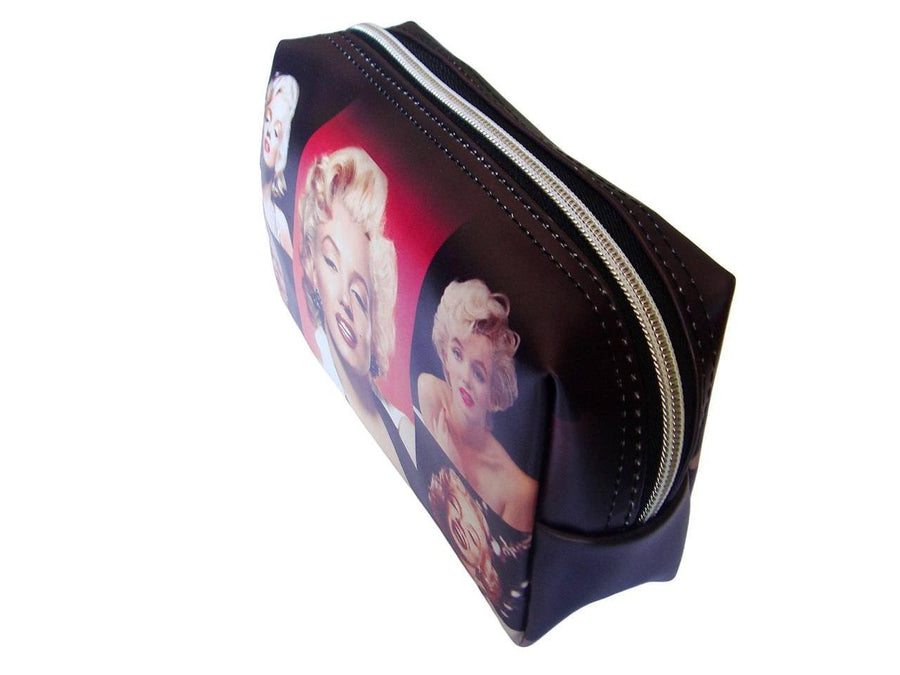 Marilyn Monroe Retro Photo Collage Make Up Lipstick Cosmetic Zip Around Bag