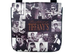Audrey Hepburn Breakfast at Tiffany's Picture Collage Cross Body Bag Purse - SilverMania925