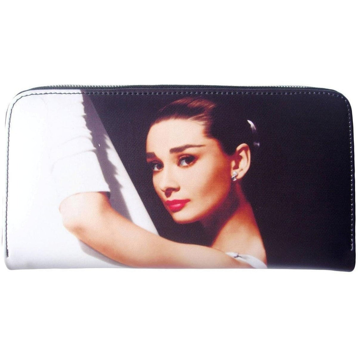 Audrey Hepburn Breakfast at Tiffanys Retro Travel Wallet Purse - SilverMania925